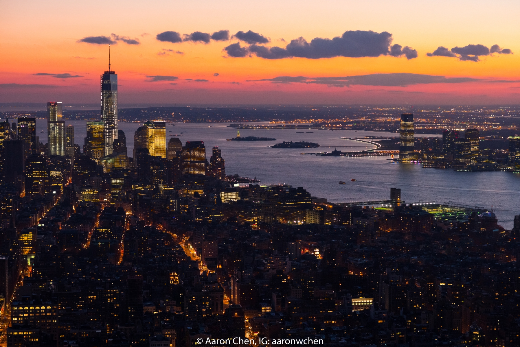 'Sunset from the Empire State Building' (TB 1 Place) by Aaron Chen - SC