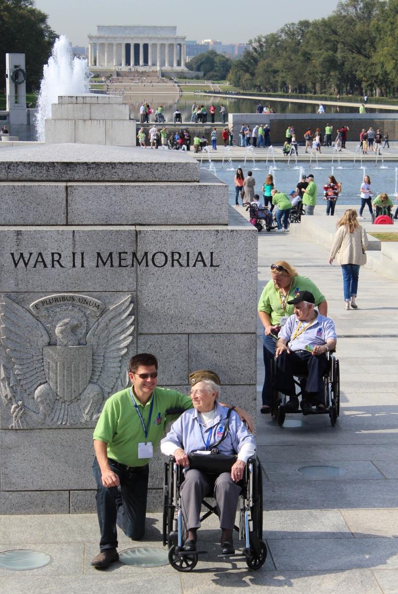 'World War II, Korean War and Vietnam War veterans visit their war memorials' (JB 1 Place) by Vicki Stephens - LV