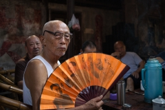 'Local Men Relaxing in The Old Teahouse in Chengdu, China.' (TM 1 Place) by Dorothy Weaver - MR