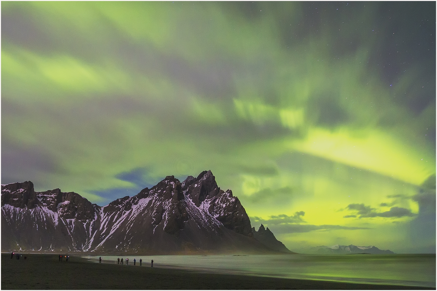 'A group of photographers capturing northern light images at Vestrahorn, Iceland' (TM Best in Show) by Shinnan Kiang - LV