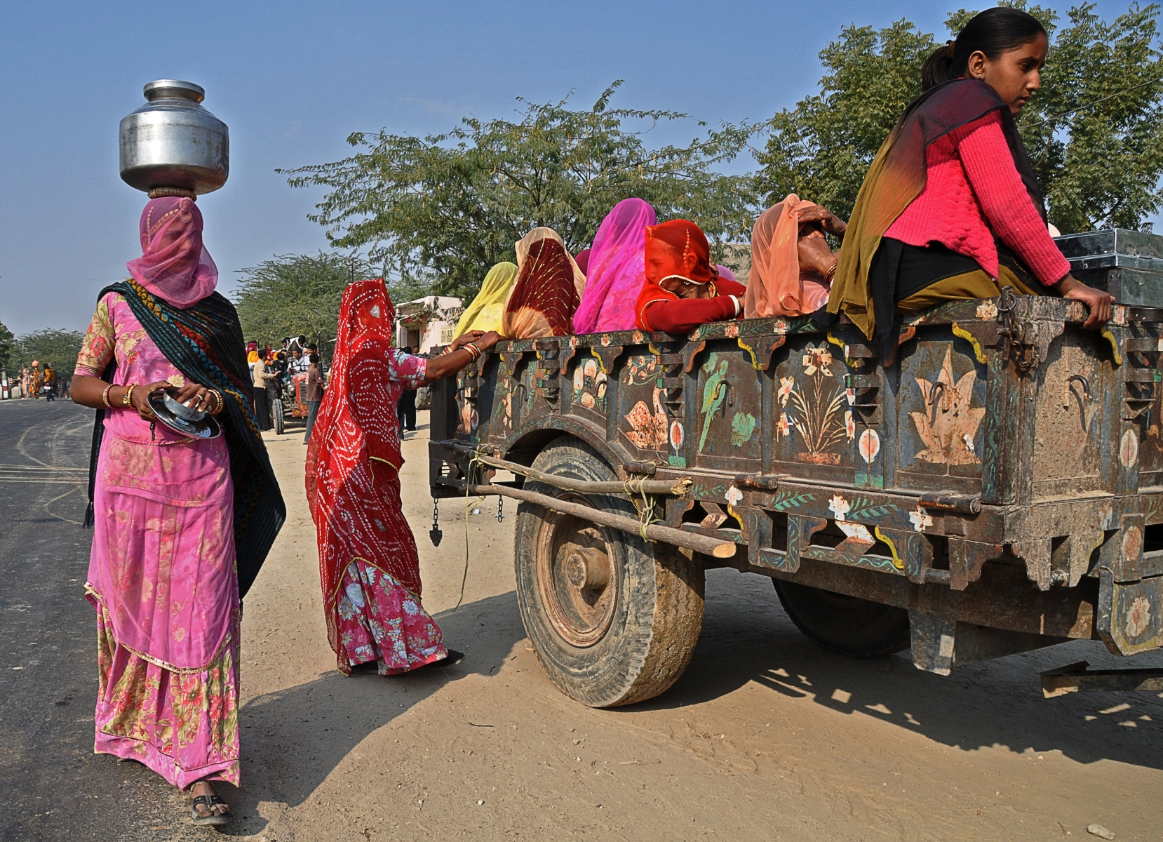 'Rural Indian Women Go to a Wedding' (TA 1 Place) by Bill Sumits - MR