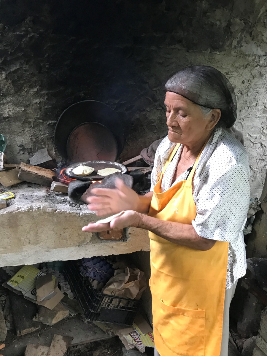 'Traditional methods of cooking are used in inns. Ciudad Cuetzalan, Puebla, Mexico.' (TI 1 Place) by Holly Wallace - BK