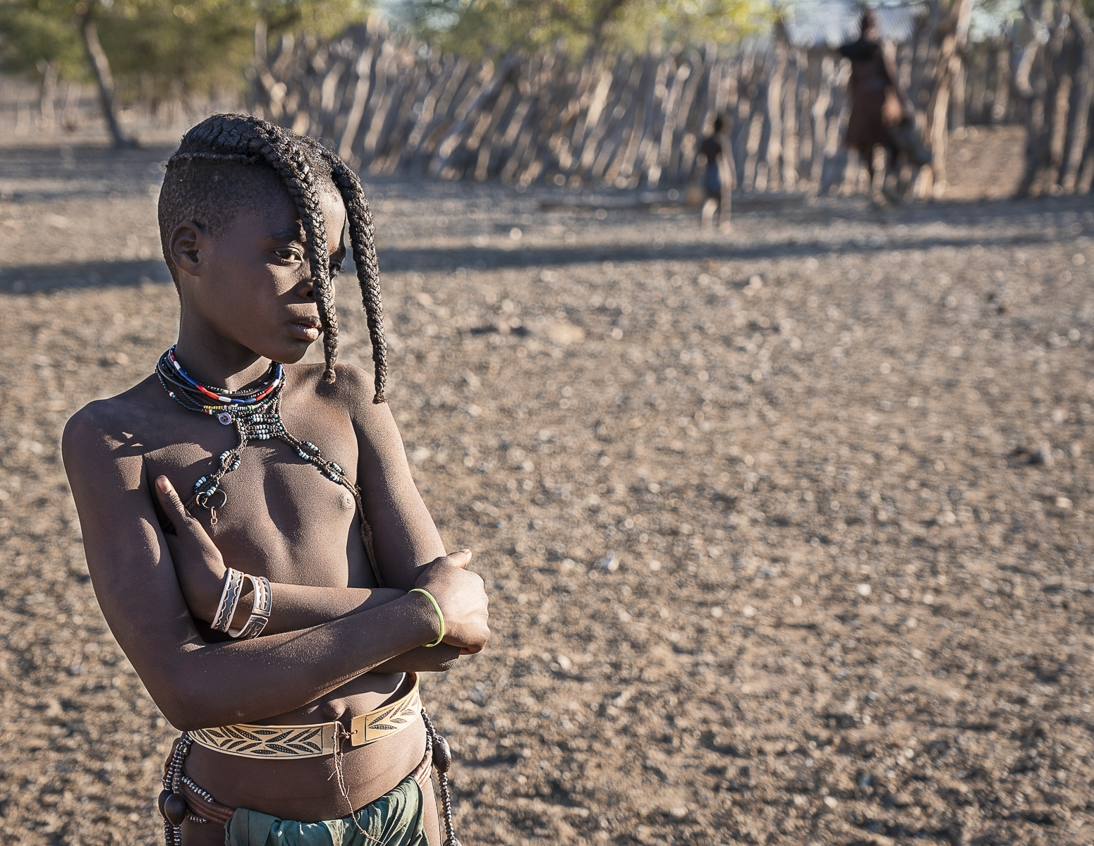'Young Himba Girl with Traditional Prepubescent Hairstyle.' (TA Best in Show) by Dorothy Weaver - MR
