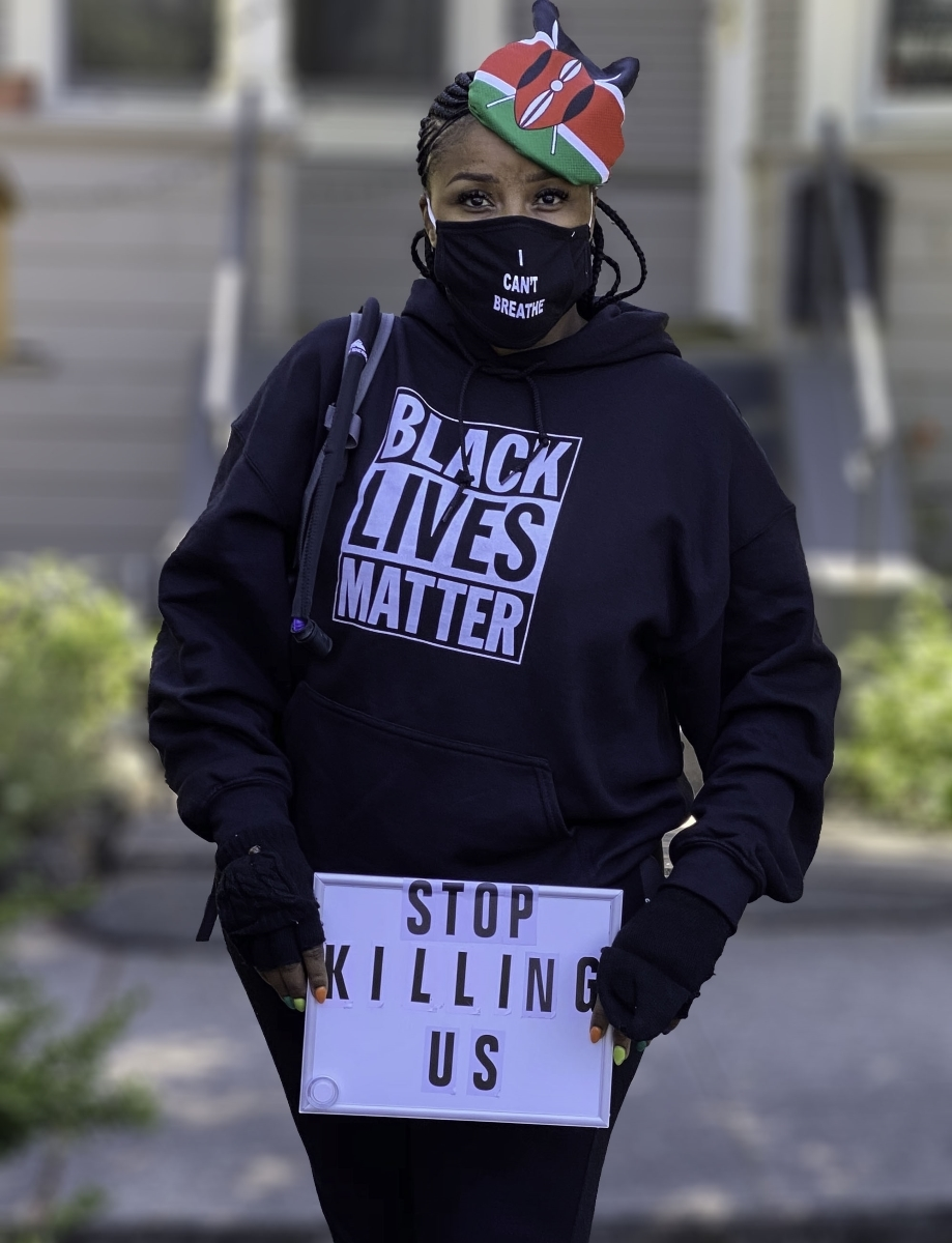 Berkeley-takes-a-stand-for-Black-Lives.-3-This-womans-poignant-demand-is-simple_-Stop-killing-us.-JB-Place-by-Mishaa-Degraw-BK