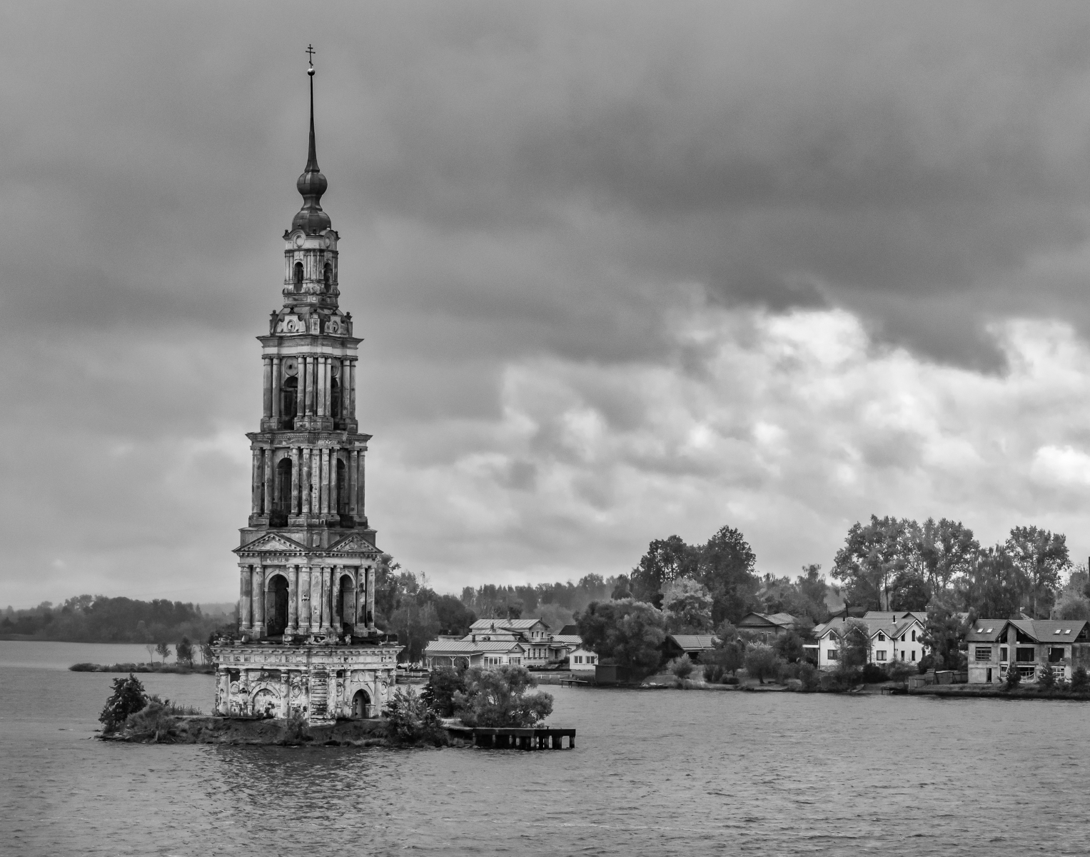 'Flooded bell tower on the Volga River_ Russia' (MB 1 Place) by Robert Adler - RO