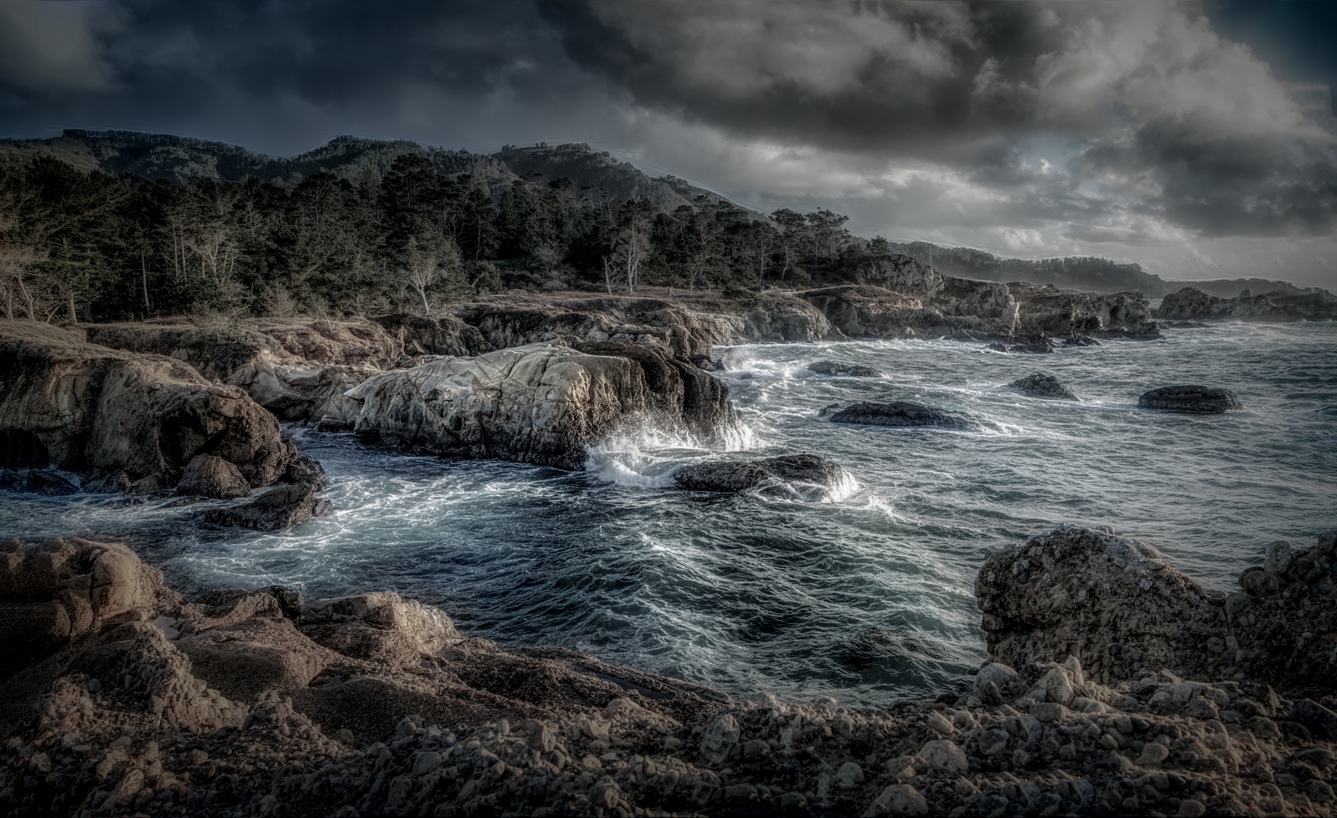 'Stormy Weather On The California Coast' (CA Best in Show) by Barry Zupan - LV
