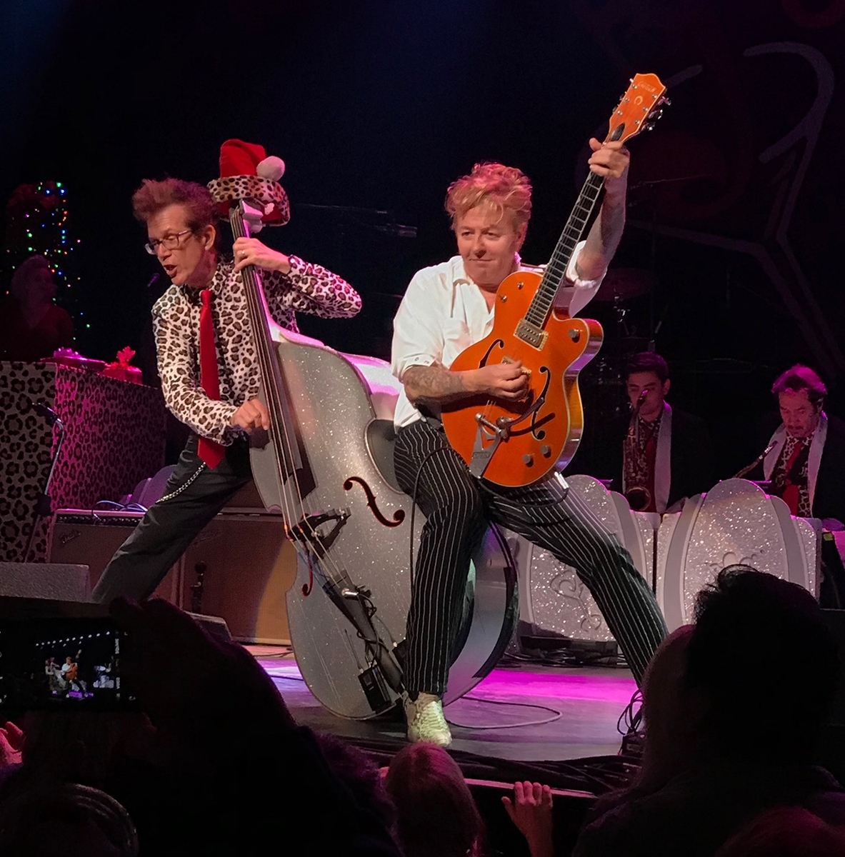 'Brian Setzer sits on the Bass while Rocking the Warfield' (JA 1 Place) by Stephen Busch - CC