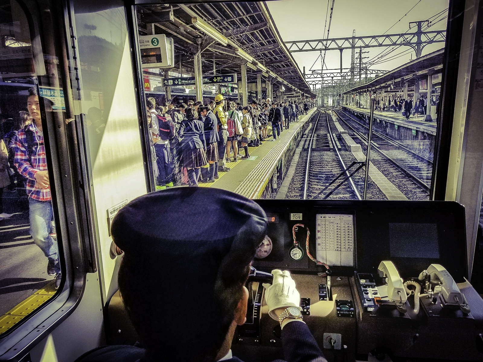 'Train Conductor's View As It Pulls Into Osaka Transfer Station' (TB Best in Show) by Alycia Sanchez - CC