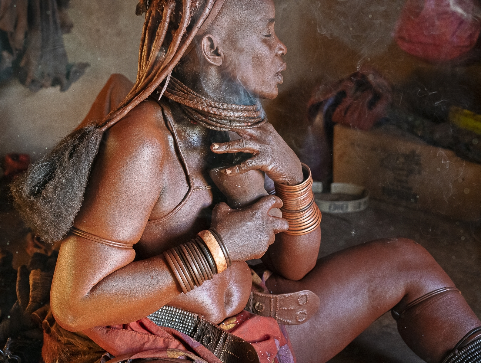 Himba-Tribeswoman-Perfumes-her-Body-with-Smoldering-Herbs.-Opuwo-Namibia.-TM-1-Place-by-Dorothy-Weaver-MR