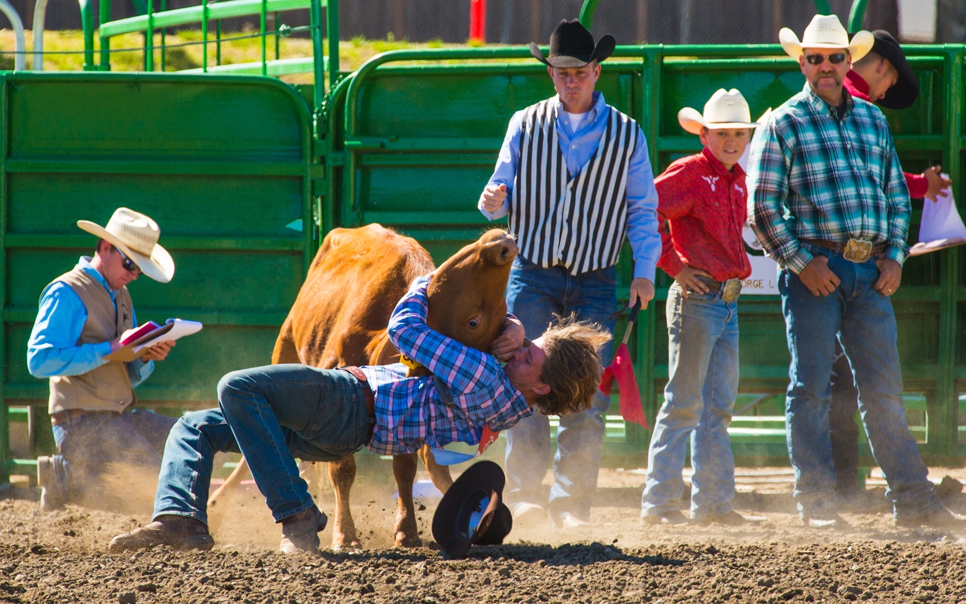 Bull-Dogging-Junior-Rodeo-Style-PB-1-Place-by-Gary-Oehrle-LV