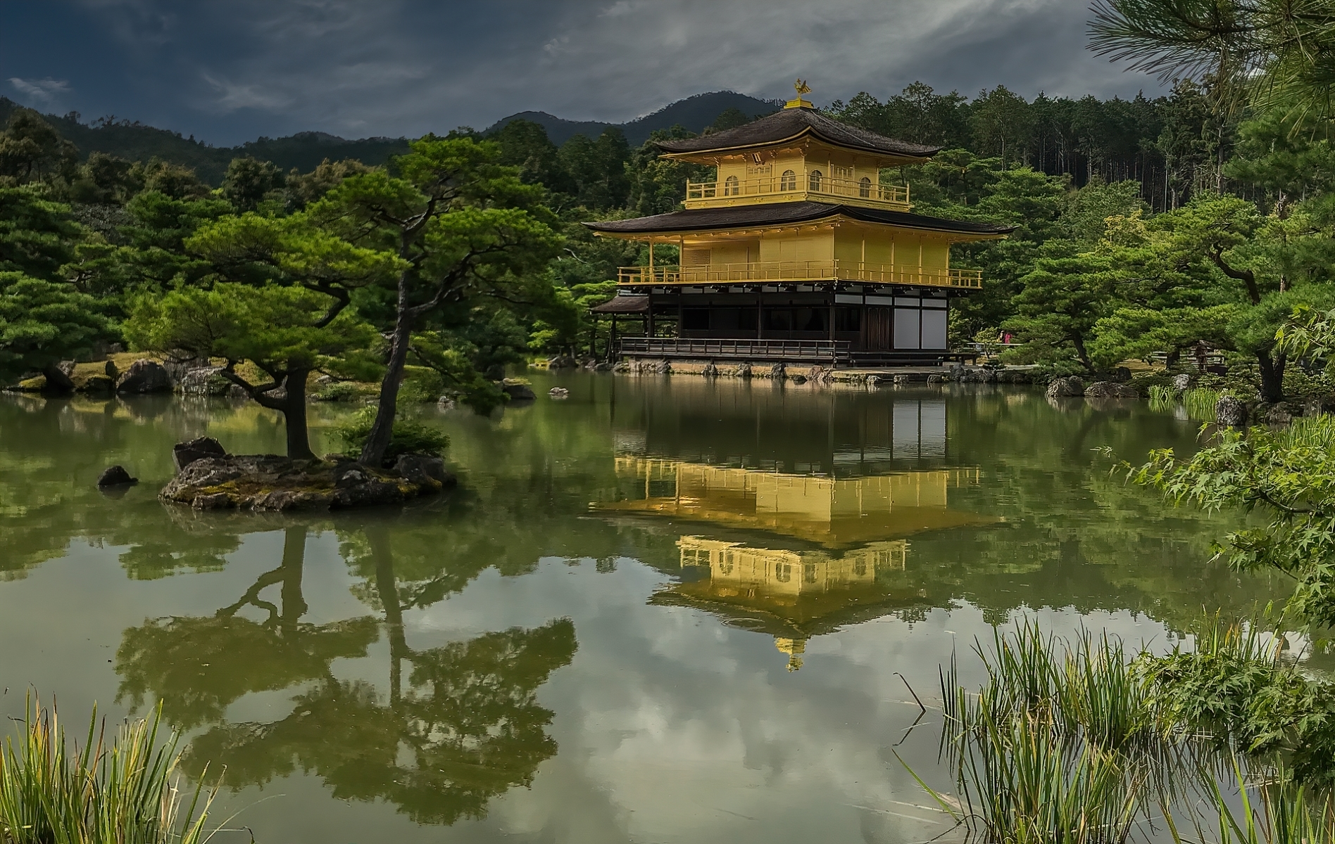 Kinkakuji-Golden-Pavilion-__whose-top-two-floors-are-covered-in-gold-leaf-in-Kyoto-Japan-PI-1-Place-by-Marilyn-Murata-VC