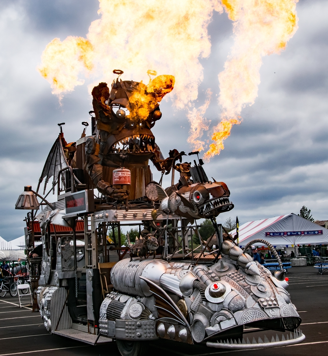 'Maker Fair, San Mateo Calif, Rabid Transit, art car made from recycled and scrap ' (JB 1 Place) by Vicki Anderson - CC