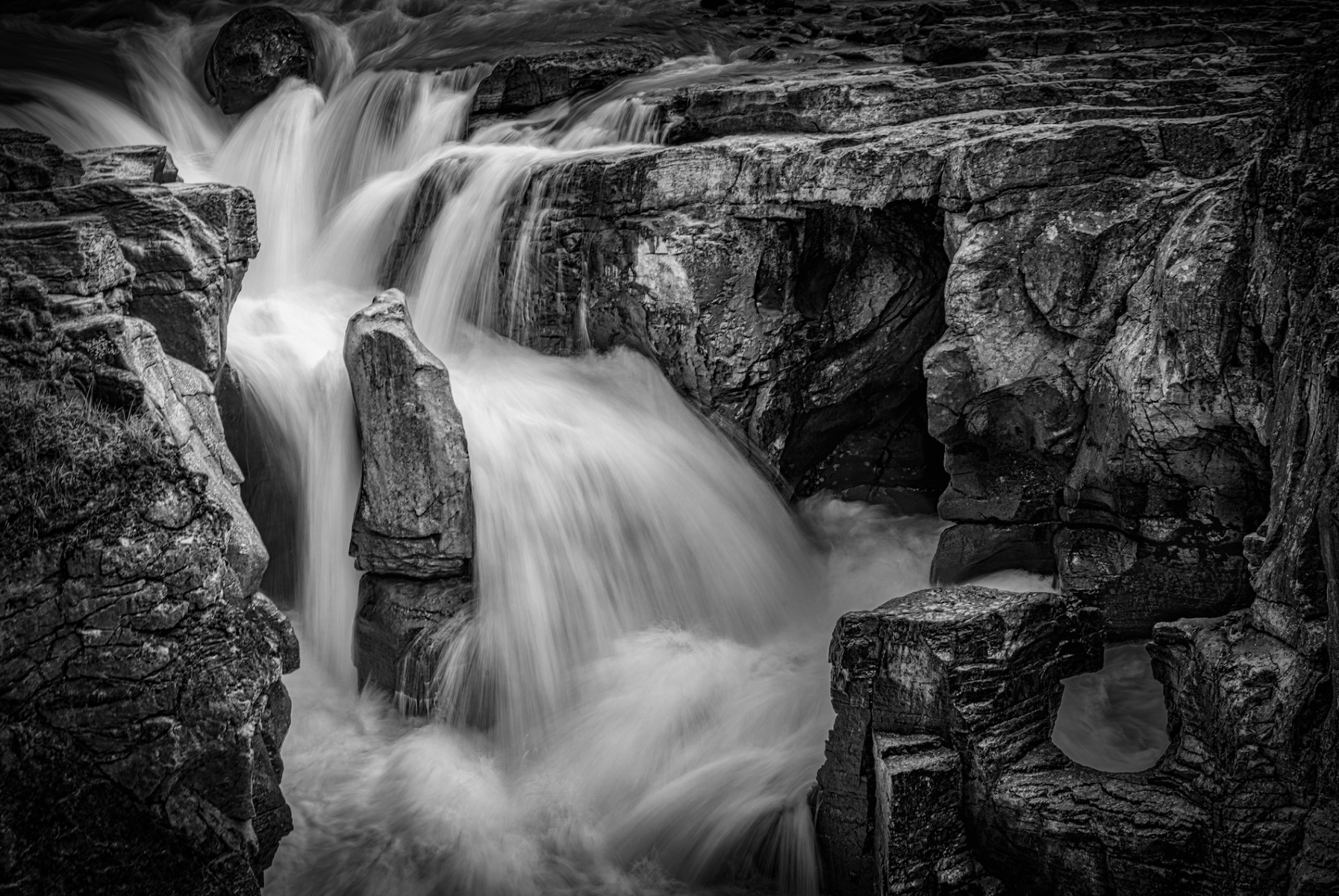 'Sunwapta Falls' (MA 1 Place) by William Stekelberg - LV