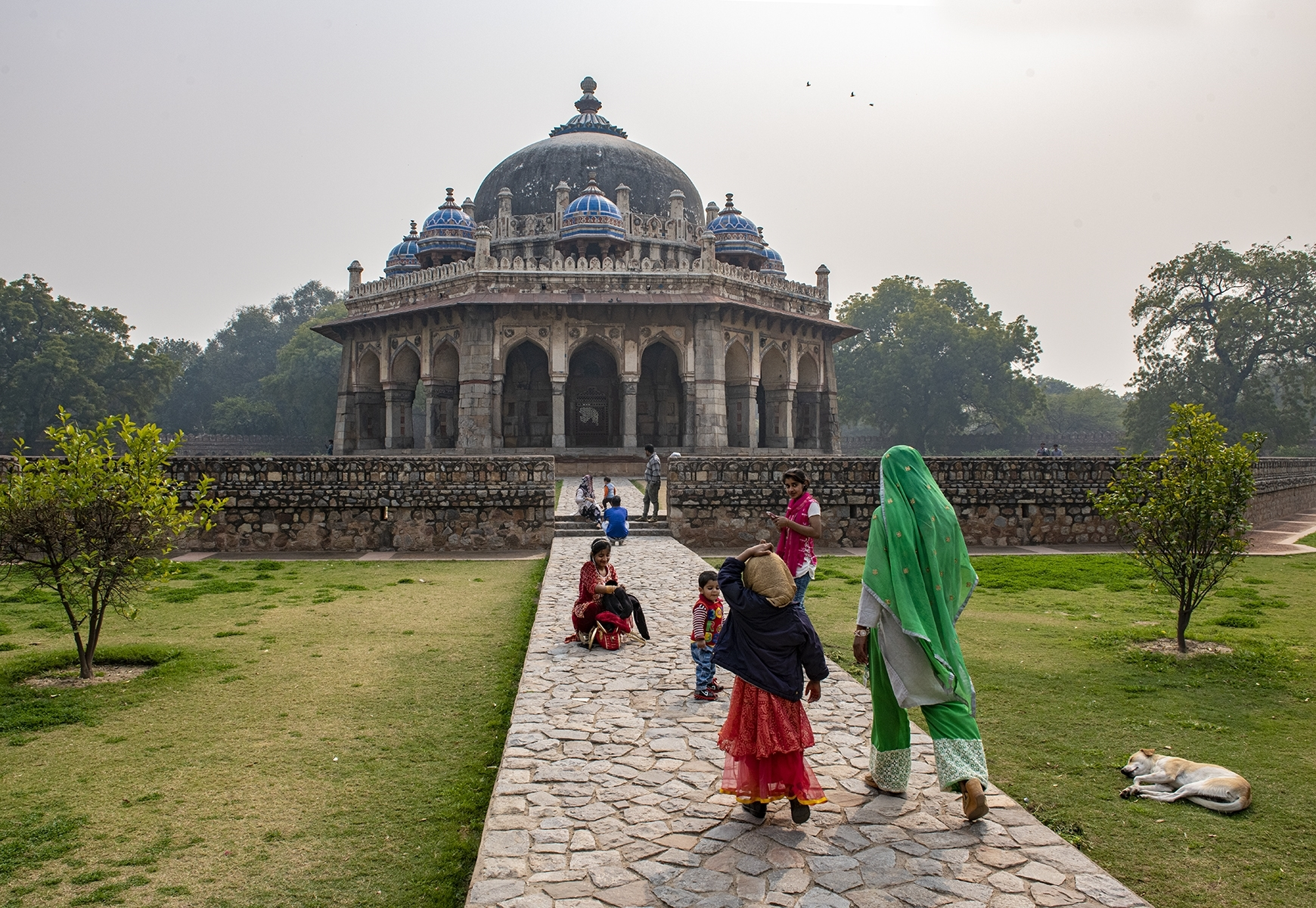 Visitors-approach-the-tomb-of-Isa-Khan-built-in-1547-located-in-the-Humayun-complex-Delhi-India-February-2019-TA-Best-in-Division-by-Stephen-Busch-Fellow-CC
