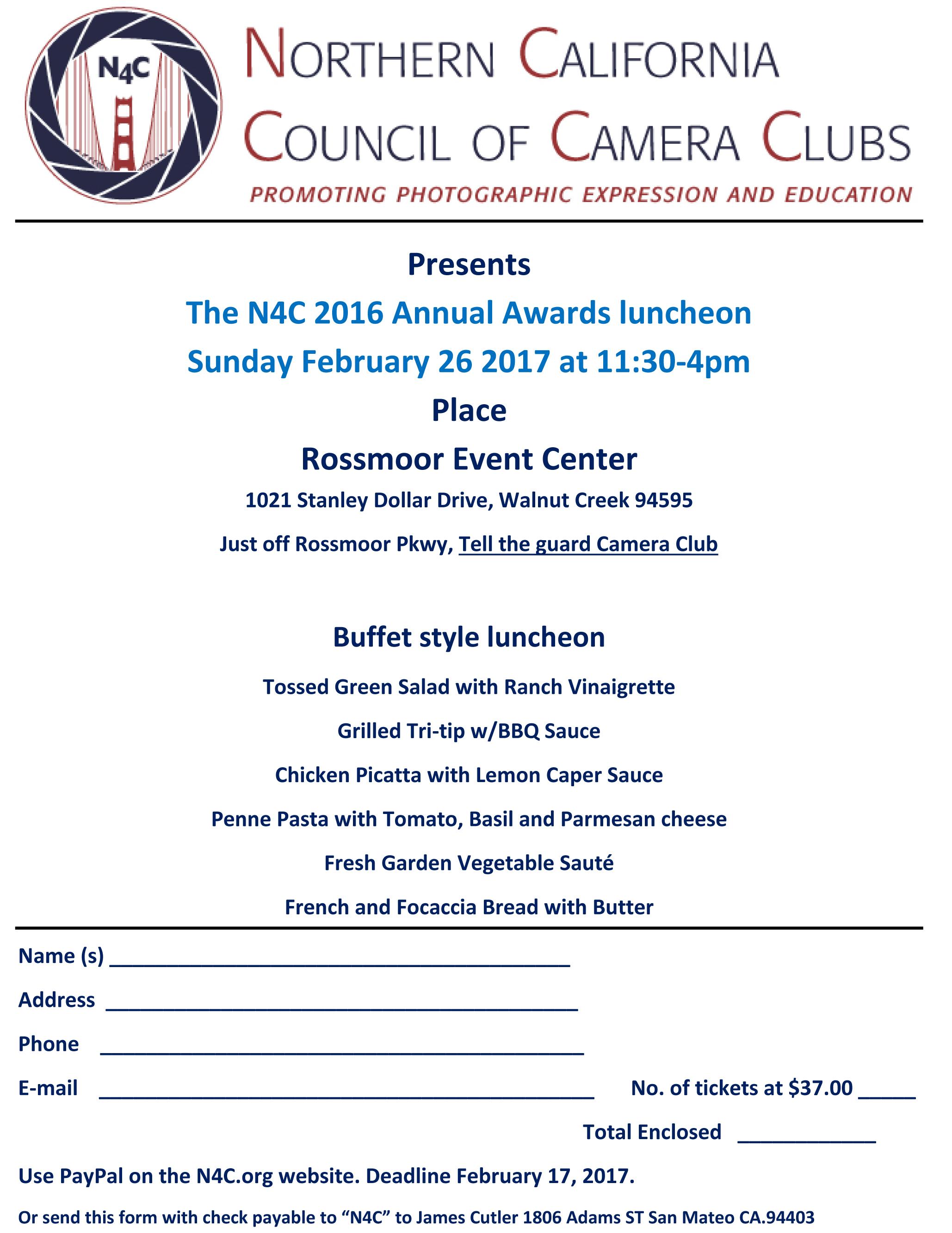 N4C 2016 banquet flyer